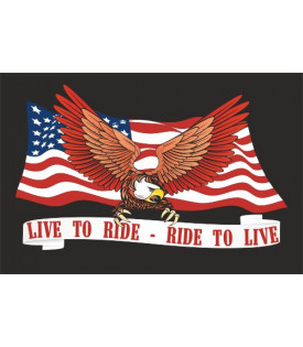 "Drapeau fanion Biker Aigle ""Live To Ride"""