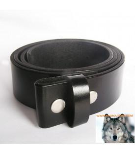 Ceinture cuir noir pour boucles universelles