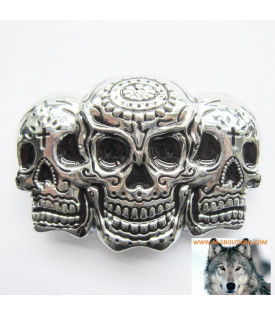 Boucle ceinture Skull Trio Mexicaine