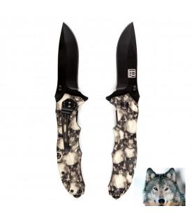 Couteau Biker tactique tête de mort