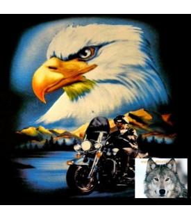 Tee shirt Bikers Aigle moto Harley USA