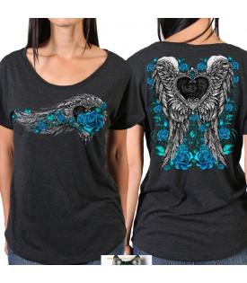 Tee-shirt Femme Rider Blue heart