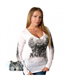 T-shirt manches longues Angel Vtwin