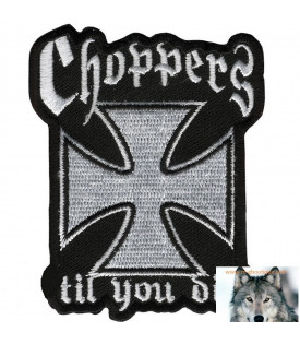 Patch écusson Biker Croix De Malte Choppers