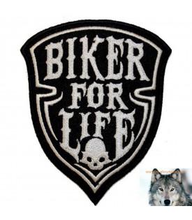 Patch écusson Crâne De La Vie Biker