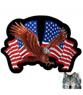 écusson Patch Aigle Drapeaux Américain