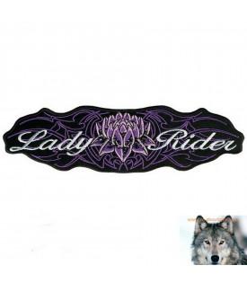 Patch Femme Biker Fleur De Lotus