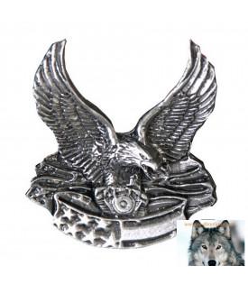Pin's Aigle Gardien Moteur V-Twin US