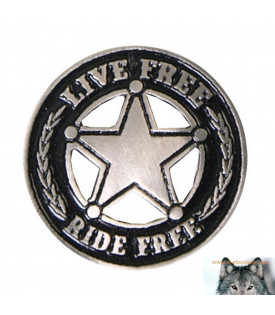 Pin's Biker Star Live Free Ride Free