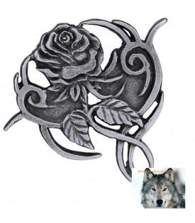 Pin's Rose Femme épinglette Biker
