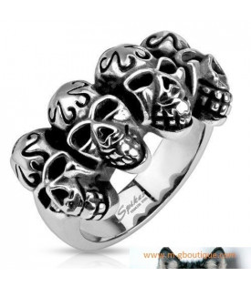 Bague Quatre Cranes Motards Bikers