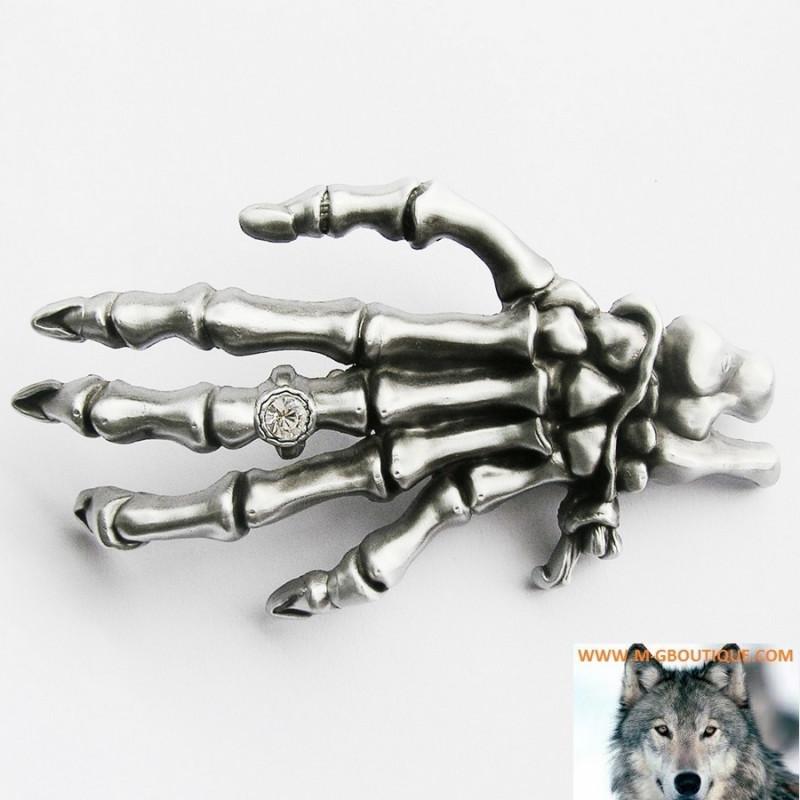 Boucle De Ceinture Main Squelette