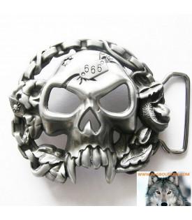 Boucle Crâne 666 Biker