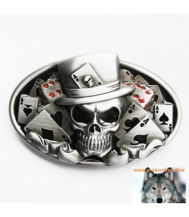 Boucle Ceinturer Crane Biker Skull Joker