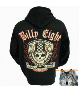 Veste Capuche Billy Eight Crane Biker Racing