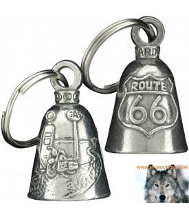 Clochette Route 66 Porte Bonheur Moto Guardian Bell