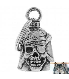 Clochette Skull Pirate Porte Bonheur Moto Guardian Bell
