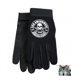 Gants Biker 2nd Amendment Crane Pistolets