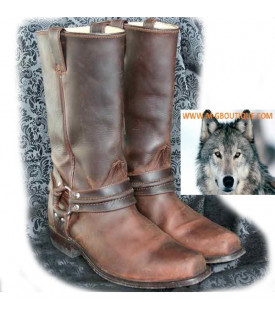 Bottes Biker Marron Moto Mexicaine