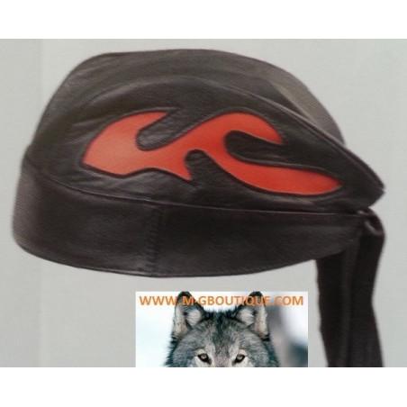 Zandanas Cuir Flammes Orange Biker