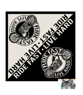 Bandana Foulard Moto Ride Fast