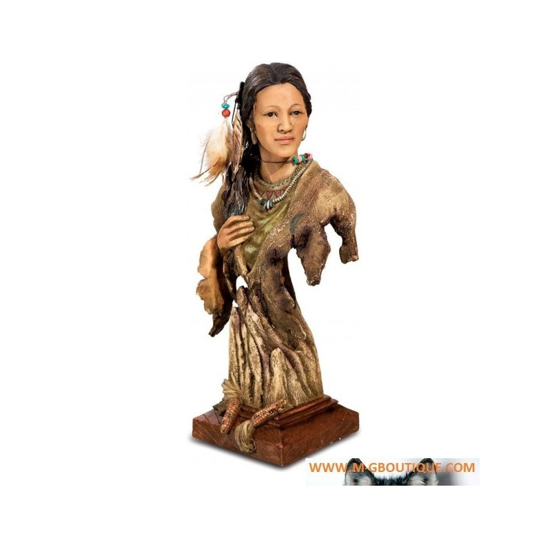 Statuette Indienne Buste Femme