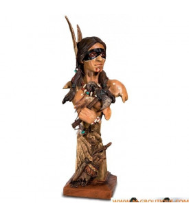 Statuette Buste Indien Tomahawk