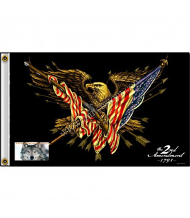 Drapeau Biker Aigle USA 2nd Amendment