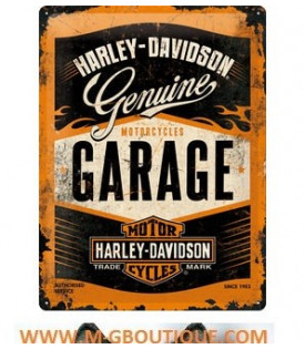 Plaque Métal Harley Davidson Genuine Garage