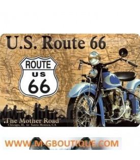 Plaque m tal murale de d coration for Decoration murale route 66