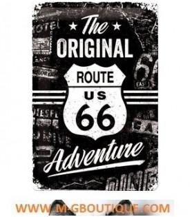 Plaque Route 66 Décoration Noir Blanc