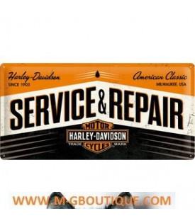 Plaque Service Repair Harley Davidson