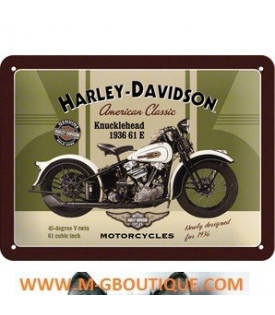 Plaque Métal Rétro Harley Davidson
