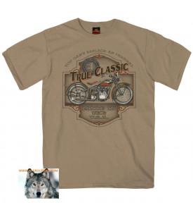 T-shirt Biker Moto Old School True Classic USA