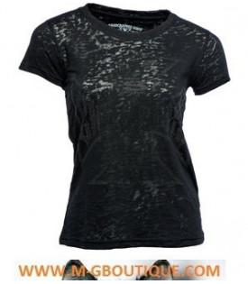 T-shirt Femme La Croix Noir West Coast Choppers