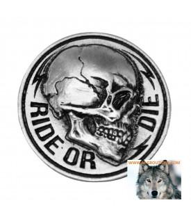 Pin's Epinglette Skull Ride Or Die