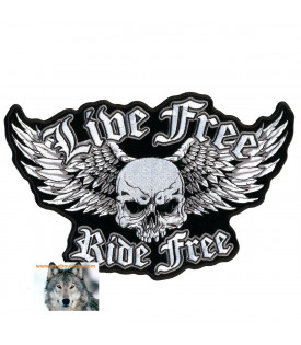 Patch écusson Live Free Ride Free