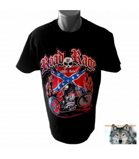 Tee shirt Bikers Skull Rebel