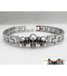 Bracelet Skull Trois Cranes