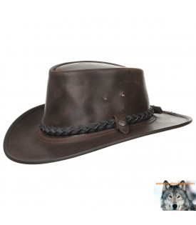 Chapeau Pliable Steerhide Traveller by BC Hats