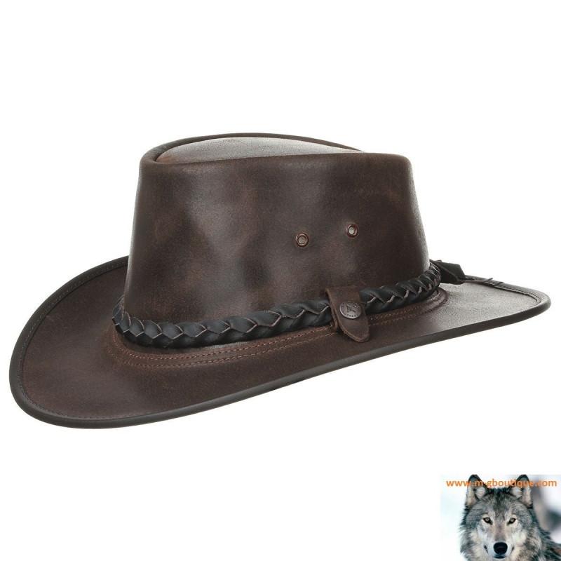 site réputé vente discount produits de commodité Chapeau marron Pliable Steerhide Traveller by BC Hats