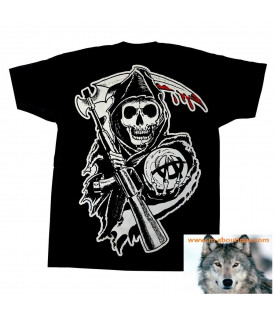 Tee Shirt Sons Of Anarchy Reaper Crew