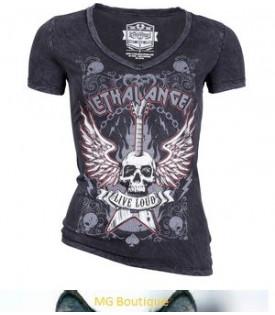 T-Shirt Femme Lethal Angel Live Loud