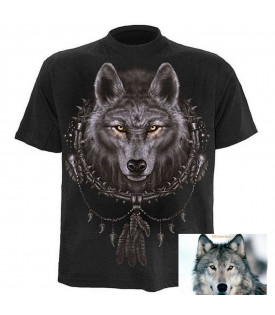 Tee Shirt Loup Attrapes Rêves