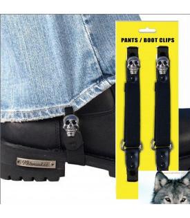 Paire de clips pantalon Tête de mort