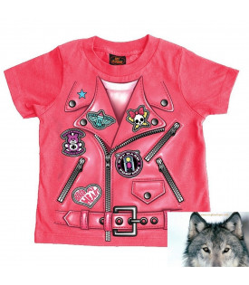T-shirt Perfecto Mini Lady Rider Biker moto