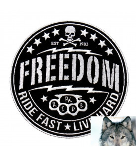 Patch écusson Biker Skull Freedom
