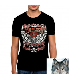 T-Shirt Aigle American Biker Forever