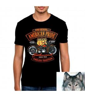 Tee Shirt Biker Original American Pride