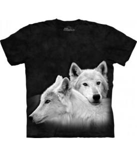 T-Shirt Loups Sibling Enfants